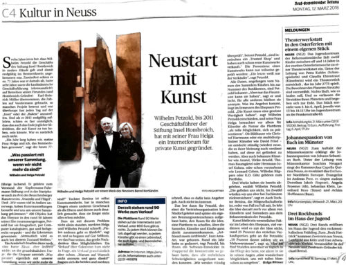 Presse: Neustart mit Kunst (Artikel in NGZ)